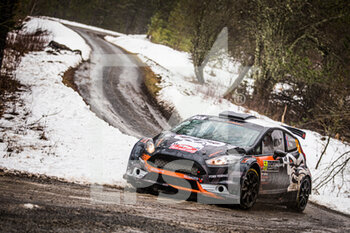 22/01/2021 - 56 Jerome CHAVANNE (FRA), Pierre BLOT (FRA), FORD Fiesta, RC2 Rally2, action during the 2021 WRC World Rally Car Championship, Monte Carlo rally on January 20 to 24, 2021 at Monaco - Photo Bastien Roux / DPPI - 2021 WRC WORLD RALLY CAR CHAMPIONSHIP, MONTE CARLO - FRIDAY - RALLY - MOTORI