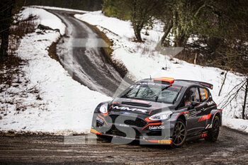 22/01/2021 - 54 Daniel ALONSO (ESP), FORD Fiesta Rally 2, RC2 Rally2, action during the 2021 WRC World Rally Car Championship, Monte Carlo rally on January 20 to 24, 2021 at Monaco - Photo Bastien Roux / DPPI - 2021 WRC WORLD RALLY CAR CHAMPIONSHIP, MONTE CARLO - FRIDAY - RALLY - MOTORI