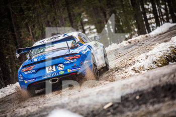 22/01/2021 - 42 Cedric ROBERT (FRA), Matthieu DUVAL (FRA), ALPINE A110, RGT RGT cars, action during the 2021 WRC World Rally Car Championship, Monte Carlo rally on January 20 to 24, 2021 at Monaco - Photo Bastien Roux / DPPI - 2021 WRC WORLD RALLY CAR CHAMPIONSHIP, MONTE CARLO - FRIDAY - RALLY - MOTORI
