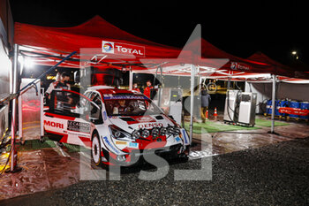 22/01/2021 - 01 Sebastien OGIER (FRA), Julien INGRASSIA (FRA), TOYOTA GAZOO RACING WRT, TOYOTA Yaris WRC, ambiance refueling, ravitaillement essence during the 2021 WRC World Rally Car Championship, Monte Carlo rally on January 20 to 24, 2021 at Monaco - Photo Francois Flamand / DPPI - 2021 WRC WORLD RALLY CAR CHAMPIONSHIP, MONTE CARLO - FRIDAY - RALLY - MOTORI