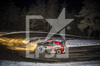 22/01/2021 - 69 Kalle ROVANPERÄ (FIN), Jonne HALTTUNEN (FIN), TOYOTA GAZOO RACING WRT, TOYOTA Yaris WRC, action during the 2021 WRC World Rally Car Championship, Monte Carlo rally on January 20 to 24, 2021 at Monaco - Photo Grégory Lenormand / DPPI - 2021 WRC WORLD RALLY CAR CHAMPIONSHIP, MONTE CARLO - FRIDAY - RALLY - MOTORI