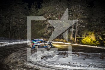 22/01/2021 - 44 Gus GREENSMITH (GBR), Elliott EDMONDSON (GBR), M-SPORT FORD WORLD RALLY TEAM, FORD Fiesta WRC, action during the 2021 WRC World Rally Car Championship, Monte Carlo rally on January 20 to 24, 2021 at Monaco - Photo Grégory Lenormand / DPPI - 2021 WRC WORLD RALLY CAR CHAMPIONSHIP, MONTE CARLO - FRIDAY - RALLY - MOTORI