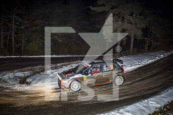 22/01/2021 - 30 Yohan ROSSEL (FRA), Benoit FULCRAND (FRA), CITROEN C3 RC2 Rally2, action during the 2021 WRC World Rally Car Championship, Monte Carlo rally on January 20 to 24, 2021 at Monaco - Photo Grégory Lenormand / DPPI - 2021 WRC WORLD RALLY CAR CHAMPIONSHIP, MONTE CARLO - FRIDAY - RALLY - MOTORI