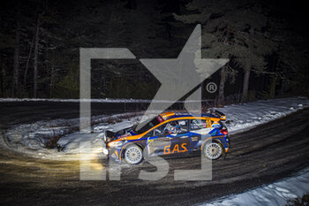 22/01/2021 - 39 Hermann NEUBAUER (AUT), Bernhard ETTEL (AUT), FORD Fiesta, RC2 Rally2, action during the 2021 WRC World Rally Car Championship, Monte Carlo rally on January 20 to 24, 2021 at Monaco - Photo Grégory Lenormand / DPPI - 2021 WRC WORLD RALLY CAR CHAMPIONSHIP, MONTE CARLO - FRIDAY - RALLY - MOTORI