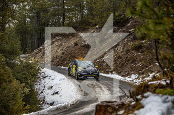22/01/2021 - 00 Florian BERNARDI (FRA), Victor BELLOTTO (FRA), Renault Clio Rally 4, action during the 2021 WRC World Rally Car Championship, Monte Carlo rally on January 20 to 24, 2021 at Monaco - Photo Grégory Lenormand / DPPI - 2021 WRC WORLD RALLY CAR CHAMPIONSHIP, MONTE CARLO - FRIDAY - RALLY - MOTORI