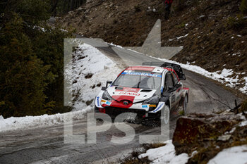 22/01/2021 - 01 Sebastien OGIER (FRA), Julien INGRASSIA (FRA), TOYOTA GAZOO RACING WRT, TOYOTA Yaris WRC, action during the 2021 WRC World Rally Car Championship, Monte Carlo rally on January 20 to 24, 2021 at Monaco - Photo Grégory Lenormand / DPPI - 2021 WRC WORLD RALLY CAR CHAMPIONSHIP, MONTE CARLO - FRIDAY - RALLY - MOTORI