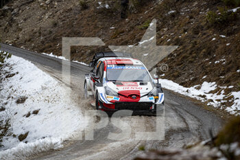 22/01/2021 - 33 Elfyn EVANS (GBR), Scott MARTIN (GBR), TOYOTA GAZOO RACING WRT TOYOTA Yaris WRC ,action during the 2021 WRC World Rally Car Championship, Monte Carlo rally on January 20 to 24, 2021 at Monaco - Photo Grégory Lenormand / DPPI - 2021 WRC WORLD RALLY CAR CHAMPIONSHIP, MONTE CARLO - FRIDAY - RALLY - MOTORI