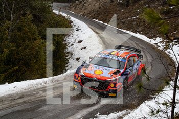 22/01/2021 - 11 Thierry NEUVILLE (BEL), Martijn Wydaeghe (BEL), HYUNDAI SHELL MOBIS WORLD RALLY TEAM, HYUNDAI I20 Coupé WRC, WRC ,action during the 2021 WRC World Rally Car Championship, Monte Carlo rally on January 20 to 24, 2021 at Monaco - Photo Grégory Lenormand / DPPI - 2021 WRC WORLD RALLY CAR CHAMPIONSHIP, MONTE CARLO - FRIDAY - RALLY - MOTORI