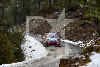 22/01/2021 - 07 Pierre-Louis LOUBET (FRA), Vincent LANDAIS (FRA), HYUNDAI 2C COMPETITION, HYUNDAI, action during the 2021 WRC World Rally Car Championship, Monte Carlo rally on January 20 to 24, 2021 at Monaco - Photo Grégory Lenormand / DPPI - 2021 WRC WORLD RALLY CAR CHAMPIONSHIP, MONTE CARLO - FRIDAY - RALLY - MOTORI