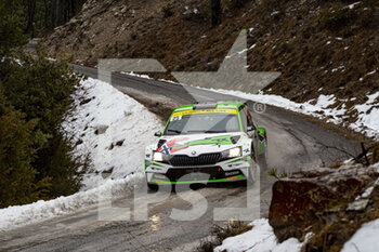 22/01/2021 - 25 Andreas MIKKELSEN (NOR), Ola FLOENE (NOR), TOKSPORT WRT SKODA Fabia Evo, RC2 Rally2, action during the 2021 WRC World Rally Car Championship, Monte Carlo rally on January 20 to 24, 2021 at Monaco - Photo Grégory Lenormand / DPPI - 2021 WRC WORLD RALLY CAR CHAMPIONSHIP, MONTE CARLO - FRIDAY - RALLY - MOTORI