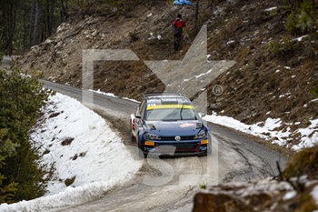 22/01/2021 - 21 Nikolay GRYAZIN (RUS), Konstantin ALEXANDROV (RUS), RUS MOVISPORT WOLKSVAGEN Polo GTI, RC2 Rally2 , action during the 2021 WRC World Rally Car Championship, Monte Carlo rally on January 20 to 24, 2021 at Monaco - Photo Grégory Lenormand / DPPI - 2021 WRC WORLD RALLY CAR CHAMPIONSHIP, MONTE CARLO - FRIDAY - RALLY - MOTORI