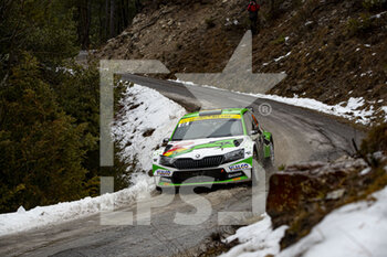 22/01/2021 - 22 Marco BULACIA (BOL), Marcelo OHANNESIAN (ARG), TOKSPORT WRT SKODA Fabia Evo, RC2 Rally2, action during the 2021 WRC World Rally Car Championship, Monte Carlo rally on January 20 to 24, 2021 at Monaco - Photo Grégory Lenormand / DPPI - 2021 WRC WORLD RALLY CAR CHAMPIONSHIP, MONTE CARLO - FRIDAY - RALLY - MOTORI