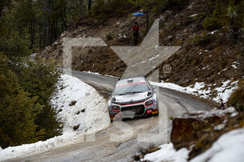 22/01/2021 - The 30 Yohan ROSSEL (FRA), Benoit FULCRAND (FRA), CITROEN C3 RC2 Rally2, action during the 2021 WRC World Rally Car Championship, Monte Carlo rally on January 20 to 24, 2021 at Monaco - Photo Grégory Lenormand / DPPI - 2021 WRC WORLD RALLY CAR CHAMPIONSHIP, MONTE CARLO - FRIDAY - RALLY - MOTORI