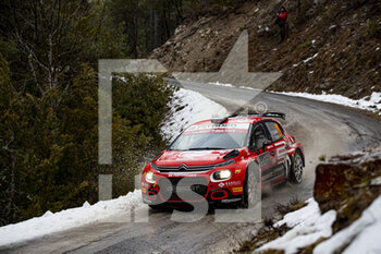 22/01/2021 - 29 Nicolas CIAMIN (FRA), Yannick ROCHE (FRA), CITROËN C3, RC2 Rally2, action during the 2021 WRC World Rally Car Championship, Monte Carlo rally on January 20 to 24, 2021 at Monaco - Photo Grégory Lenormand / DPPI - 2021 WRC WORLD RALLY CAR CHAMPIONSHIP, MONTE CARLO - FRIDAY - RALLY - MOTORI