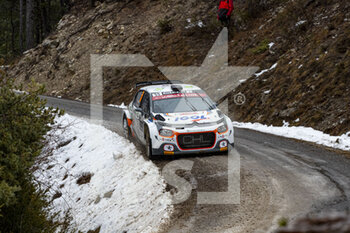22/01/2021 - 55 Yoann BONATO (FRA), Benjamin BOULLOUD (FRA), CITROEN C3, RC2 Rally2, action during the 2021 WRC World Rally Car Championship, Monte Carlo rally on January 20 to 24, 2021 at Monaco - Photo Grégory Lenormand / DPPI - 2021 WRC WORLD RALLY CAR CHAMPIONSHIP, MONTE CARLO - FRIDAY - RALLY - MOTORI