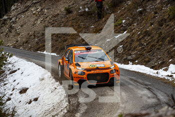 22/01/2021 - 40 Davy VANNESTE (BEL), Kris D'ALLEINE (BEL), CITROËN C3 Rally 2, RC2 Rally2, action during the 2021 WRC World Rally Car Championship, Monte Carlo rally on January 20 to 24, 2021 at Monaco - Photo Grégory Lenormand / DPPI - 2021 WRC WORLD RALLY CAR CHAMPIONSHIP, MONTE CARLO - FRIDAY - RALLY - MOTORI
