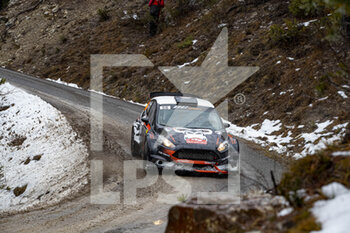 22/01/2021 - 56 Jerome CHAVANNE (FRA), Pierre BLOT (FRA), FORD Fiesta, RC2 Rally2, action during the 2021 WRC World Rally Car Championship, Monte Carlo rally on January 20 to 24, 2021 at Monaco - Photo Grégory Lenormand / DPPI - 2021 WRC WORLD RALLY CAR CHAMPIONSHIP, MONTE CARLO - FRIDAY - RALLY - MOTORI