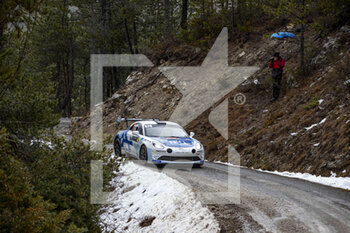 22/01/2021 - 42 Cedric ROBERT (FRA), Matthieu DUVAL (FRA), ALPINE A110, RGT RGT cars, action during the 2021 WRC World Rally Car Championship, Monte Carlo rally on January 20 to 24, 2021 at Monaco - Photo Grégory Lenormand / DPPI - 2021 WRC WORLD RALLY CAR CHAMPIONSHIP, MONTE CARLO - FRIDAY - RALLY - MOTORI