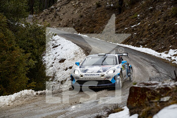 22/01/2021 - 46 Pierre RAGUES (FRA), Julien PESENTI (FRA), ALPINE A110, RGT RGT cars, action during the 2021 WRC World Rally Car Championship, Monte Carlo rally on January 20 to 24, 2021 at Monaco - Photo Grégory Lenormand / DPPI - 2021 WRC WORLD RALLY CAR CHAMPIONSHIP, MONTE CARLO - FRIDAY - RALLY - MOTORI