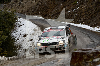 22/01/2021 - 37 Cedric CHERAIN (BEL), Stephane PRÉVOT (BEL), SKODA Fabia, RC2 Rally2, action during the 2021 WRC World Rally Car Championship, Monte Carlo rally on January 20 to 24, 2021 at Monaco - Photo Grégory Lenormand / DPPI - 2021 WRC WORLD RALLY CAR CHAMPIONSHIP, MONTE CARLO - FRIDAY - RALLY - MOTORI