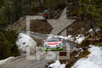 22/01/2021 - 45 Philippe BAFFOUN (FRA), Arnaud DUNAND (FRA), ALPINE A110, RGT RGT cars, action during the 2021 WRC World Rally Car Championship, Monte Carlo rally on January 20 to 24, 2021 at Monaco - Photo Grégory Lenormand / DPPI - 2021 WRC WORLD RALLY CAR CHAMPIONSHIP, MONTE CARLO - FRIDAY - RALLY - MOTORI