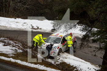 22/01/2021 - Marshal, during the 2021 WRC World Rally Car Championship, Monte Carlo rally on January 20 to 24, 2021 at Monaco - Photo Grégory Lenormand / DPPI - 2021 WRC WORLD RALLY CAR CHAMPIONSHIP, MONTE CARLO - FRIDAY - RALLY - MOTORI