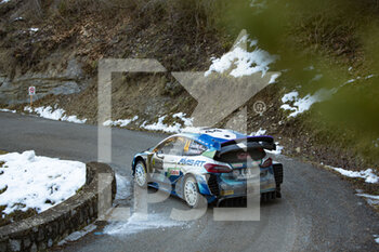 24/01/2021 - 44 Gus GREENSMITH (GBR), Elliott EDMONDSON (GBR), M-SPORT FORD WORLD RALLY TEAM, FORD Fiesta WRC, action during the 2021 WRC World Rally Car Championship, Monte Carlo rally on January 20 to 24, 2021 at Monaco - Photo Grégory Lenormand / DPPI - 2021 WRC WORLD RALLY CAR CHAMPIONSHIP, MONTE CARLO - SUNDAY - RALLY - MOTORI