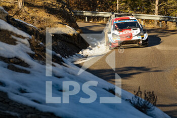 24/01/2021 - 69 Kalle ROVANPERÄ (FIN), Jonne HALTTUNEN (FIN), TOYOTA GAZOO RACING WRT, TOYOTA Yaris WRC, action during the 2021 WRC World Rally Car Championship, Monte Carlo rally on January 20 to 24, 2021 at Monaco - Photo Grégory Lenormand / DPPI - 2021 WRC WORLD RALLY CAR CHAMPIONSHIP, MONTE CARLO - SUNDAY - RALLY - MOTORI