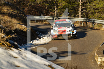 24/01/2021 - 33 Elfyn EVANS (GBR), Scott MARTIN (GBR), TOYOTA GAZOO RACING WRT TOYOTA Yaris WRC ,action during the 2021 WRC World Rally Car Championship, Monte Carlo rally on January 20 to 24, 2021 at Monaco - Photo Grégory Lenormand / DPPI - 2021 WRC WORLD RALLY CAR CHAMPIONSHIP, MONTE CARLO - SUNDAY - RALLY - MOTORI