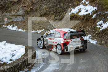 24/01/2021 - 01 Sebastien OGIER (FRA), Julien INGRASSIA (FRA), TOYOTA GAZOO RACING WRT, TOYOTA Yaris WRC, action during the 2021 WRC World Rally Car Championship, Monte Carlo rally on January 20 to 24, 2021 at Monaco - Photo Grégory Lenormand / DPPI - 2021 WRC WORLD RALLY CAR CHAMPIONSHIP, MONTE CARLO - SUNDAY - RALLY - MOTORI