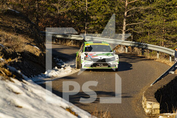 24/01/2021 - 25 Andreas MIKKELSEN (NOR), Ola FLOENE (NOR), TOKSPORT WRT SKODA Fabia Evo, RC2 Rally2, action during the 2021 WRC World Rally Car Championship, Monte Carlo rally on January 20 to 24, 2021 at Monaco - Photo Grégory Lenormand / DPPI - 2021 WRC WORLD RALLY CAR CHAMPIONSHIP, MONTE CARLO - SUNDAY - RALLY - MOTORI