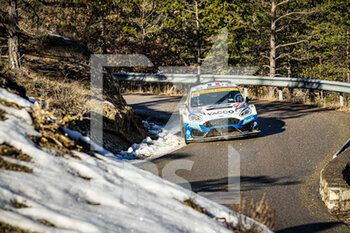 24/01/2021 - 20 Adrien FOURMAUX (FRA), Renaud JAMOUL (BEL), M-SPORT FORD WORLD RALLY TEAM, FORD Fiesta Mk II, Rally2, action during the 2021 WRC World Rally Car Championship, Monte Carlo rally on January 20 to 24, 2021 at Monaco - Photo Grégory Lenormand / DPPI - 2021 WRC WORLD RALLY CAR CHAMPIONSHIP, MONTE CARLO - SUNDAY - RALLY - MOTORI