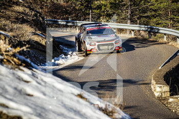 24/01/2021 - 30 Yohan ROSSEL (FRA), Benoit FULCRAND (FRA), CITROEN C3 RC2 Rally2, action during the 2021 WRC World Rally Car Championship, Monte Carlo rally on January 20 to 24, 2021 at Monaco - Photo Grégory Lenormand / DPPI - 2021 WRC WORLD RALLY CAR CHAMPIONSHIP, MONTE CARLO - SUNDAY - RALLY - MOTORI