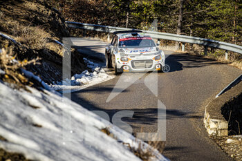 24/01/2021 - 55 Yoann BONATO (FRA), Benjamin BOULLOUD (FRA), CITROEN C3, RC2 Rally2, action during the 2021 WRC World Rally Car Championship, Monte Carlo rally on January 20 to 24, 2021 at Monaco - Photo Grégory Lenormand / DPPI - 2021 WRC WORLD RALLY CAR CHAMPIONSHIP, MONTE CARLO - SUNDAY - RALLY - MOTORI