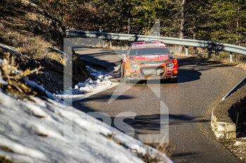 24/01/2021 - 29 Nicolas CIAMIN (FRA), Yannick ROCHE (FRA), CITROËN C3, RC2 Rally2, action during the 2021 WRC World Rally Car Championship, Monte Carlo rally on January 20 to 24, 2021 at Monaco - Photo Grégory Lenormand / DPPI - 2021 WRC WORLD RALLY CAR CHAMPIONSHIP, MONTE CARLO - SUNDAY - RALLY - MOTORI