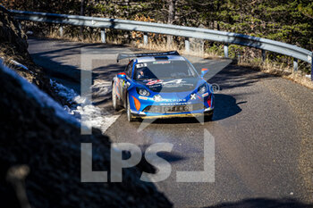 24/01/2021 - 43 Emmanuel GUIGOU (FRA), Alexandre CORIA (FRA), ALPINE A110, RGT RGT cars, action during the 2021 WRC World Rally Car Championship, Monte Carlo rally on January 20 to 24, 2021 at Monaco - Photo Grégory Lenormand / DPPI - 2021 WRC WORLD RALLY CAR CHAMPIONSHIP, MONTE CARLO - SUNDAY - RALLY - MOTORI