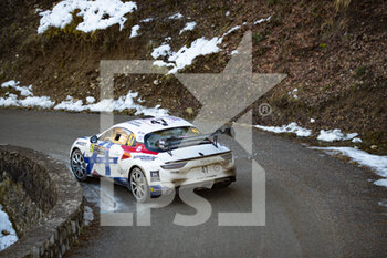 24/01/2021 - 47 Raphael ASTIER (FRA), Frederic VAUCLARE (FRA), ALPINE A110, RGT RGT cars, action during the 2021 WRC World Rally Car Championship, Monte Carlo rally on January 20 to 24, 2021 at Monaco - Photo Grégory Lenormand / DPPI - 2021 WRC WORLD RALLY CAR CHAMPIONSHIP, MONTE CARLO - SUNDAY - RALLY - MOTORI