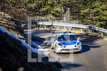 24/01/2021 - 42 Cedric ROBERT (FRA), Matthieu DUVAL (FRA), ALPINE A110, RGT RGT cars, action during the 2021 WRC World Rally Car Championship, Monte Carlo rally on January 20 to 24, 2021 at Monaco - Photo Grégory Lenormand / DPPI - 2021 WRC WORLD RALLY CAR CHAMPIONSHIP, MONTE CARLO - SUNDAY - RALLY - MOTORI