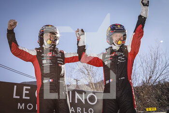 24/01/2021 - 01 Sebastien OGIER (FRA), Julien INGRASSIA (FRA), TOYOTA GAZOO RACING WRT, TOYOTA Yaris WRC, vainqueur, winner during the 2021 WRC World Rally Car Championship, Monte Carlo rally on January 20 to 24, 2021 at Monaco - Photo Francois Flamand / DPPI - 2021 WRC WORLD RALLY CAR CHAMPIONSHIP, MONTE CARLO - SUNDAY - RALLY - MOTORI