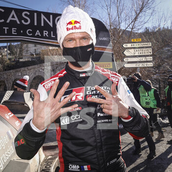 24/01/2021 - OGIER Sebastien (FRA), TOYOTA Yaris WRC, portrait vainqueur, winner during the 2021 WRC World Rally Car Championship, Monte Carlo rally on January 20 to 24, 2021 at Monaco - Photo Francois Flamand / DPPI - 2021 WRC WORLD RALLY CAR CHAMPIONSHIP, MONTE CARLO - SUNDAY - RALLY - MOTORI