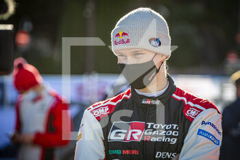 24/01/2021 - ROVANPERÄ Kalle (FIN), TOYOTA Yaris WRC, portrait during the 2021 WRC World Rally Car Championship, Monte Carlo rally on January 20 to 24, 2021 at Monaco - Photo Grégory Lenormand / DPPI - 2021 WRC WORLD RALLY CAR CHAMPIONSHIP, MONTE CARLO - SUNDAY - RALLY - MOTORI