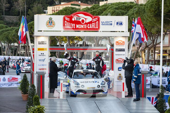 24/01/2021 - 47 Raphael ASTIER (FRA), Frederic VAUCLARE (FRA), ALPINE A110, RGT RGT cars, podium, portrait during the 2021 WRC World Rally Car Championship, Monte Carlo rally on January 20 to 24, 2021 at Monaco - Photo Grégory Lenormand / DPPI - 2021 WRC WORLD RALLY CAR CHAMPIONSHIP, MONTE CARLO - SUNDAY - RALLY - MOTORI