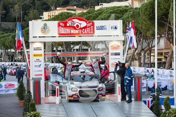 24/01/2021 - 30 Yohan ROSSEL (FRA), Benoit FULCRAND (FRA), CITROEN C3 RC2 Rally2, podium, portrait during the 2021 WRC World Rally Car Championship, Monte Carlo rally on January 20 to 24, 2021 at Monaco - Photo Grégory Lenormand / DPPI - 2021 WRC WORLD RALLY CAR CHAMPIONSHIP, MONTE CARLO - SUNDAY - RALLY - MOTORI