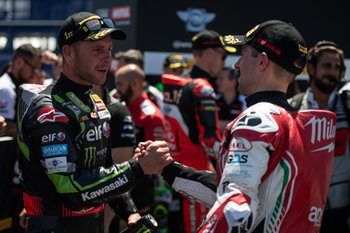 Jonathan Rea and Eugene Laverty during race 1 in Misano - Pirelli Riviera di Rimini Round - Saturday - SUPERBIKE - MOTORI