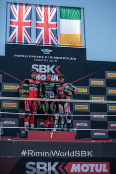 Podium of  race 1 in Misano - Pirelli Riviera di Rimini Round - Saturday - SUPERBIKE - MOTORI