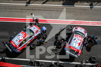 11/09/2020 - 30 Tarquini Gabriele (ita), BRC Hyundai N LUKOIL Squadra Corse, Hyundai i30 N TCR, action 01 Michelisz Norbert (hun), BRC Hyundai N LUKOIL Squadra Corse, Hyundai i30 N TCR, action pitlane, during the 2020 FIA WTCR Race of Belgium, 1st round of the 2020 FIA World Touring Car Cup, on the Circuit Zolder, from September 11 to 13, 2020 in Zolder, Belgium - Photo Fr - FIA WORLD TOURING CAR CUP 2020 - BELGIO - TURISMO E GRAN TURISMO - MOTORI