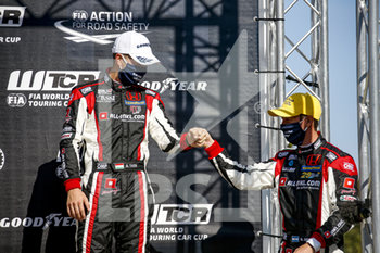 11/09/2020 - Girolami Nestor (arg), ALL-INKL.DE Munnich Motorsport, Honda Civic TCR, portrait,Tassi Attila (hun), ALL-INKL.DE Munnich Motorsport, Honda Civic TCR, portrait podium during the 2020 FIA WTCR Race of Belgium, 1st round of the 2020 FIA World Touring Car Cup, on the Circuit Zolder, from September 11 to 13, 2020 in Zolder, Belgium - Photo Paulo Maria / DPPI - FIA WORLD TOURING CAR CUP 2020 - BELGIO - TURISMO E GRAN TURISMO - MOTORI