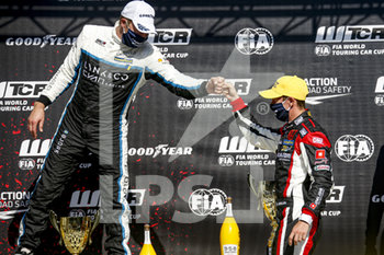 11/09/2020 - Girolami Nestor (arg), ALL-INKL.DE Munnich Motorsport, Honda Civic TCR, portrait, Bjork Thed (swe), Cyan Performance Lynk and Co, Lynk and Co 03 TCR, portrait podium during the 2020 FIA WTCR Race of Belgium, 1st round of the 2020 FIA World Touring Car Cup, on the Circuit Zolder, from September 11 to 13, 2020 in Zolder, Belgium - Photo Paulo Maria / DPPI - FIA WORLD TOURING CAR CUP 2020 - BELGIO - TURISMO E GRAN TURISMO - MOTORI