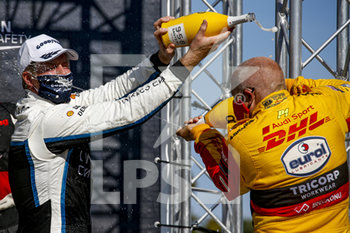 11/09/2020 - Bjork Thed (swe), Cyan Performance Lynk and Co, Lynk and Co 03 TCR, portrait, Coronel Tom (ned), Comtoyou DHL Team Audi Sport, Audi LMS, portrait podium during the 2020 FIA WTCR Race of Belgium, 1st round of the 2020 FIA World Touring Car Cup, on the Circuit Zolder, from September 11 to 13, 2020 in Zolder, Belgium - Photo Paulo Maria / DPPI - FIA WORLD TOURING CAR CUP 2020 - BELGIO - TURISMO E GRAN TURISMO - MOTORI