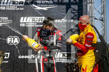 11/09/2020 - Tassi Attila (hun), ALL-INKL.DE Munnich Motorsport, Honda Civic TCR, portrait, Coronel Tom (ned), Comtoyou DHL Team Audi Sport, Audi LMS, portrait, podium during the 2020 FIA WTCR Race of Belgium, 1st round of the 2020 FIA World Touring Car Cup, on the Circuit Zolder, from September 11 to 13, 2020 in Zolder, Belgium - Photo Paulo Maria / DPPI - FIA WORLD TOURING CAR CUP 2020 - BELGIO - TURISMO E GRAN TURISMO - MOTORI